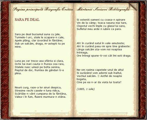 poezie de alean