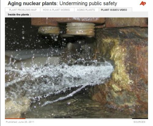 Aging nuclear plants - Undermining public safety- via AP