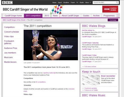 BBC Cardiff Singer of the World 2011-Valentina Nafornita from Moldova