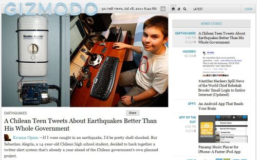 A Chilean Teen Tweets About Earthquakes Better Than His Whole Government