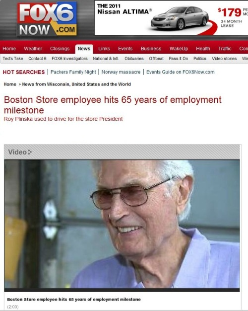 Boston Store employee hits 65 years of employment milestone