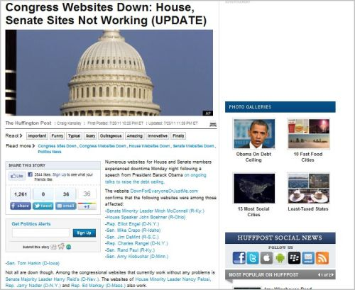 Congress Websites Down_House_ Senate Sites Not Working_UPDATE_HaffingtonPost