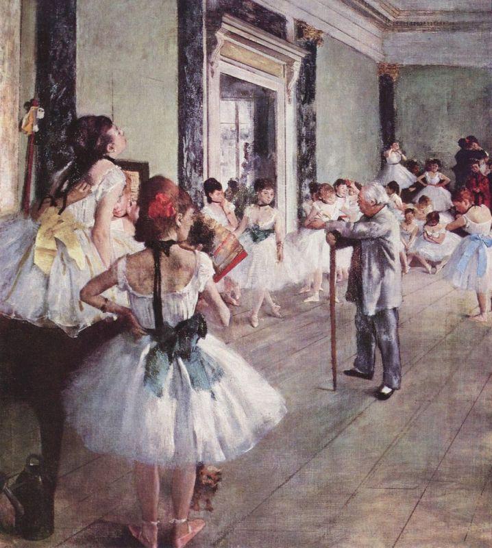Edgar_Germain_Hilaire_Degas_La Classe De Danse