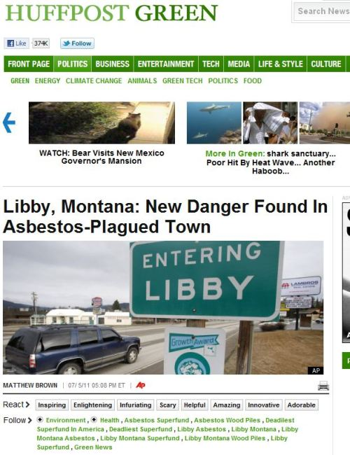 Libby_Montana New Danger Found In Asbestos-Plagued Town_via_HUFFPOST