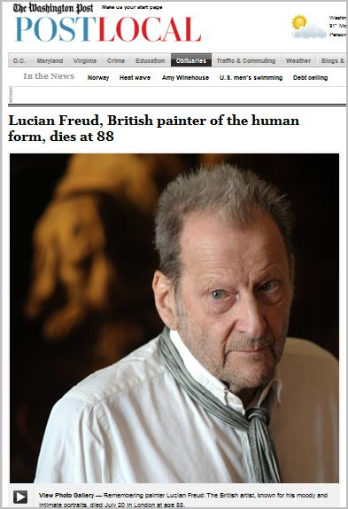 Lucian Freud - British painter of the human form - dies at 88