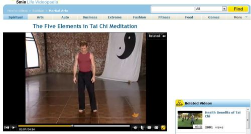The Five Elements in Tai Chi Meditation
