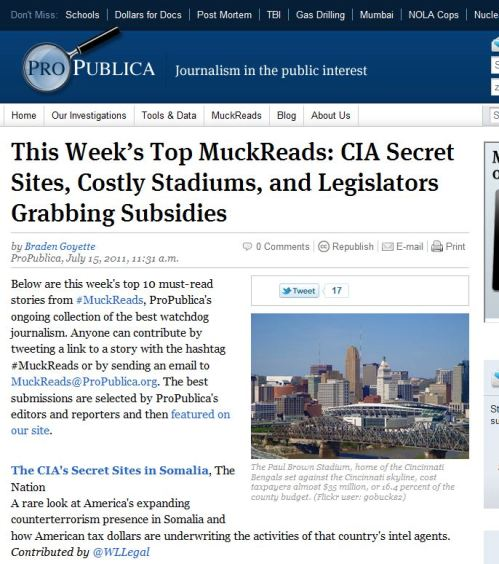 This Week Top MuckReads - ProPublica