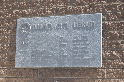 Downey City Library_ Plaque