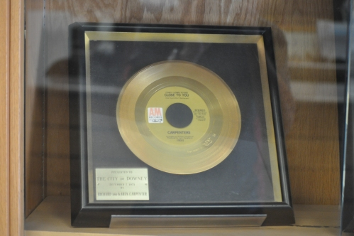 (They Long to Be) CLOSE TO YOU_Gold Recod donated by Richard and Karen Carpenter T Downey City Library_December 1971