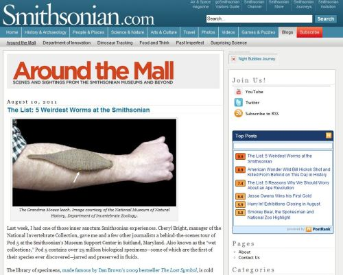 The List: 5 Weirdest Worms at the Smithsonian