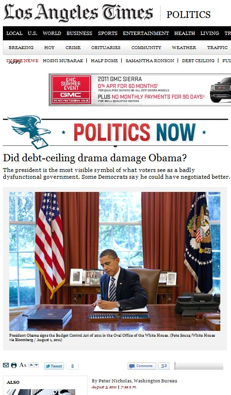 Did debt-ceiling drama damage Obama?