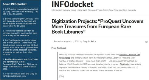 Digitization Projects_ ProQuest Uncovers More Treasures from European Rare Book Libraries_via INFOdocket
