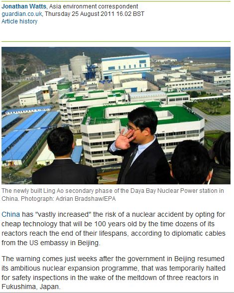 Fears Over China's Nuclear Safety FINALLY Revealed (What, and When did the MEdia know about this?