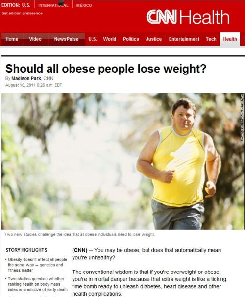 Should all obese people lose weight-via CNN