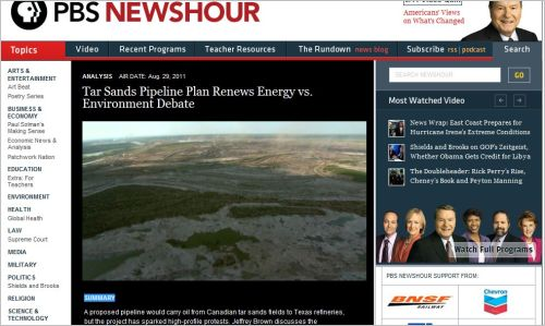 Tar Sands Pipeline Plan Renews Energy vs. Environment Debate