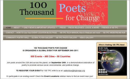 100 THOUSAND POETS FOR CHANGE September 24 2011