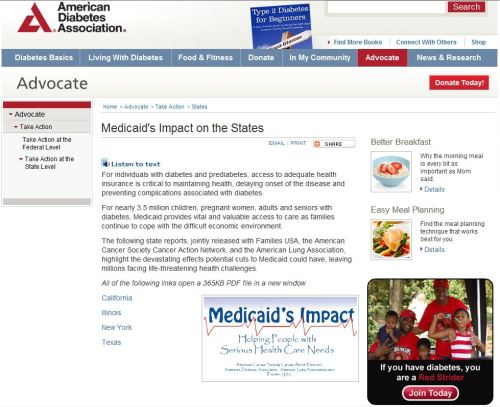 AmericanDiabetes Association _ Medicaid - Impact on the States