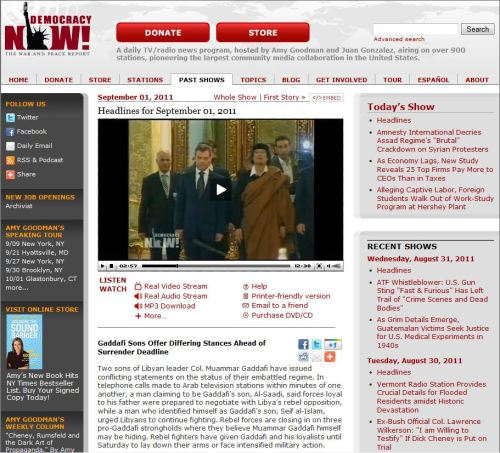 Democracy Now_Headlines for September 01, 2011