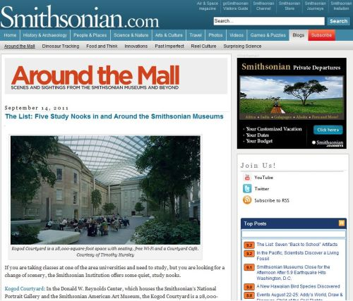 Five Study Nooks in and Around the Smithsonian Museums
