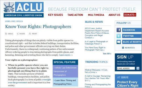 Know Your Rights - Photographers _ ACLU
