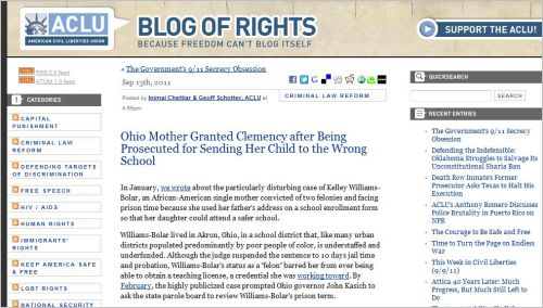 ACLU_Ohio Mother Granted Clemency after Being Prosecuted for Sending Her Child to the Wrong School