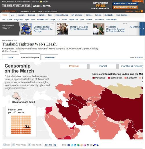 Wall Street Journal_Thailand Tightens Web Leash_Censorship on the March