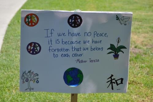 Mother Teresa Poster: Bay Cities Walk for Hope, October 15, 2011 El Dorado Park, Long Beach