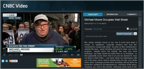 CNBC VIDEO_ Michael Moore Interview October 24 2011