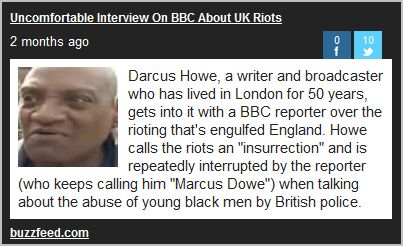 Darcus Howe is speaking his mind while minding his speech