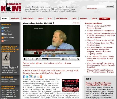 Democracy Now _ October 19, 2011