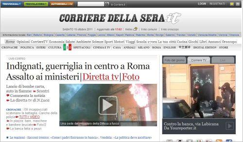 Indignati-guerriglia in centro a Roma