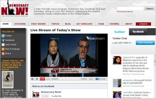 Live Stream of Today's Show Democracy Now_the Occupy Oakland Eye witnesses Account