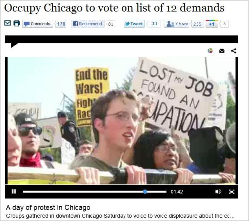Occupy Chicago to vote on list of 12 demands