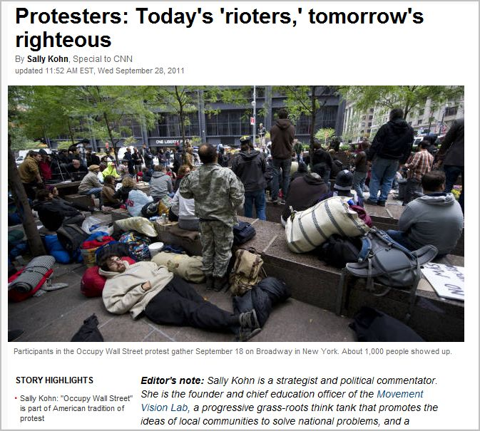 Protesters: Today's 'rioters,' tomorrow's righteous
