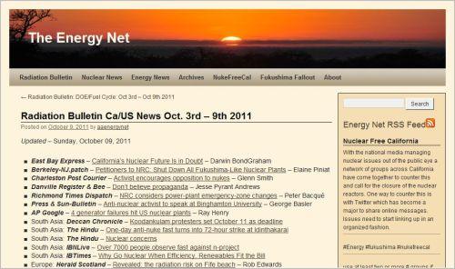 Radiation Bulletin Ca-US News Oct. 3rd – 9th 2011