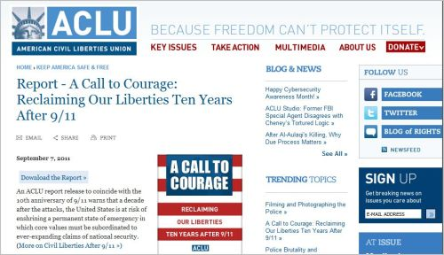 Report - A Call to Courage _Reclaiming Our Liberties Ten Years After 9-11
