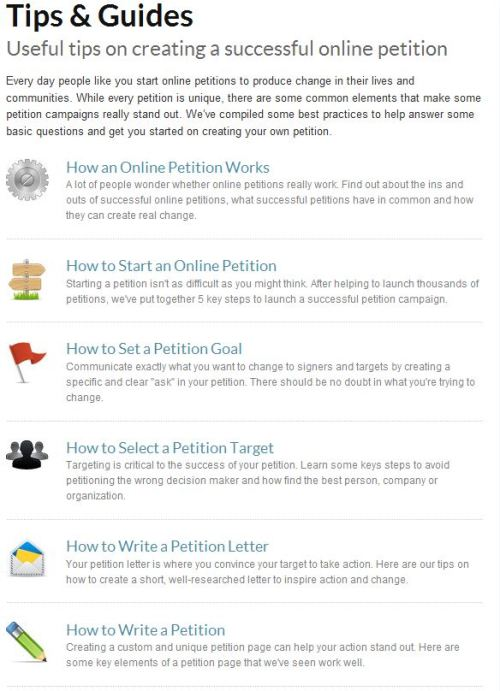 Useful tips on creating a successful online petition