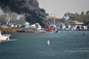 Boat on fire: Seal Beach, November 26, 2011