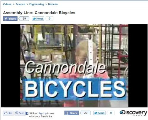 Assembly Line_ Cannondale Bicycles: Now I know why my new bike rocks
