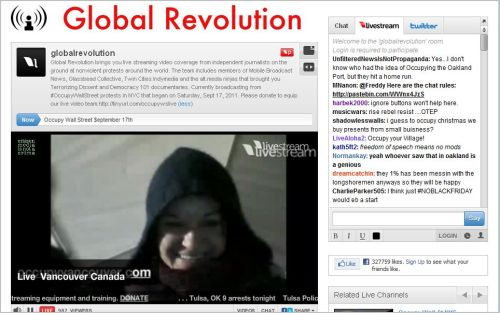 Global Revolution_Life Stream_Occupy Vancouver_Imagine_Somewhere in Time_ Here Now!