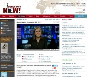 Democracy Now headlines for November 28 2011