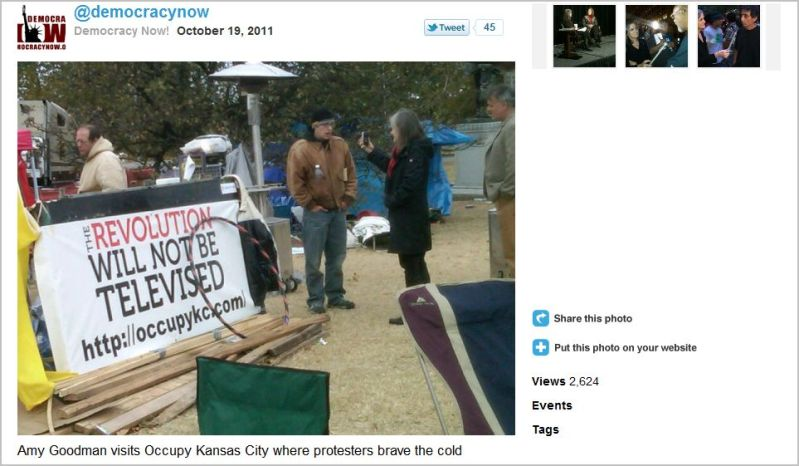 Democracy Now_Amy Goodman_OccupyKc_the Revolution will not be televized _On The Contrary