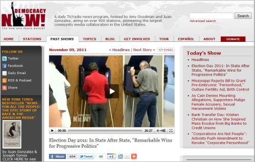 Democracy Now_Headlines_November 9 2011