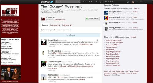 Follow Democracy Now_The 'Occupy' Movement on Twitter
