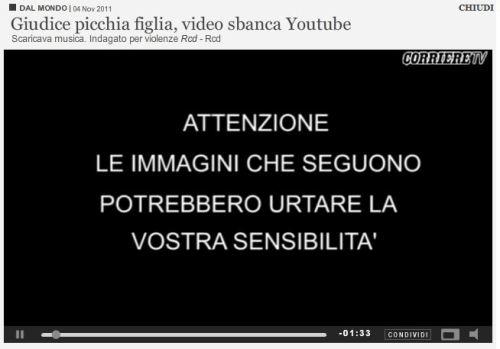 Giudice picchia figlia, video sbanca Youtube (you be the judge)