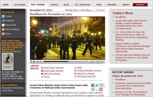 Headlines for November 07  2011 _ Democracy Now