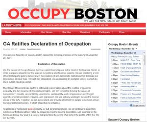 Occupy Boston: GA Ratifies Declaration of Occupation