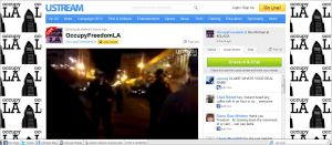Occupy Freedom LA -Eviction- November 28 2011 LifeStream