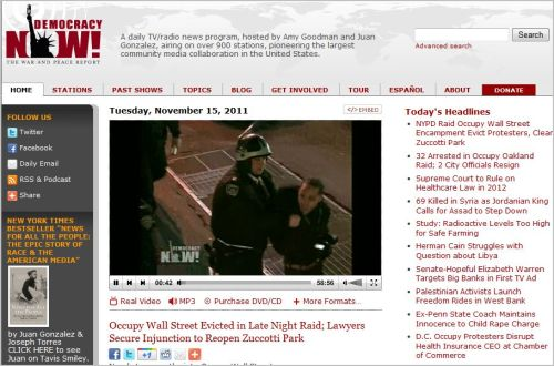 Occupy Wall Street Evicted in Late Night Raid_ Lawyers Secure Injunction to Reopen Zuccotti Park
