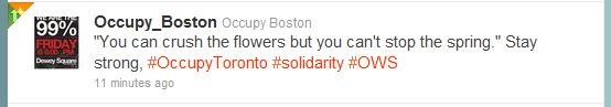Occupy_Boston_Mindset: 'Strong-healthy-hopeful' (while the wheels of democracy turn slow and backward)